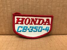 "VINTAGE ORIGINAL 1970'S EMBROIDERED HONDA CB-350-4 JACKET PATCH 3.5"" X 2"""