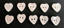 small White Iridescent Heart buttons pack 10