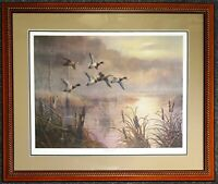 JW THRASHER Signed Numbered MISTY DAWN Ducks Unlimited LIMITED EDITION PRINT