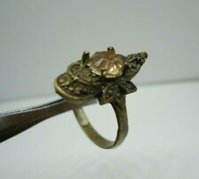 Ancient Medievel Bronze Ring With Stone Extremely Rare Roman Ring Old