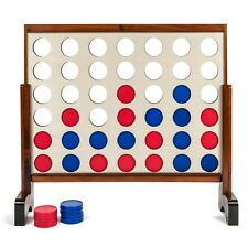 Tailgating Pros 3ft x 2ft Stained Giant Four in a Row w Carrying Case 4 Connect