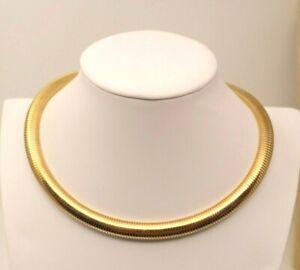"Beautiful Vintage MONET Goldtone Omega Chain 17"" Necklace V#"
