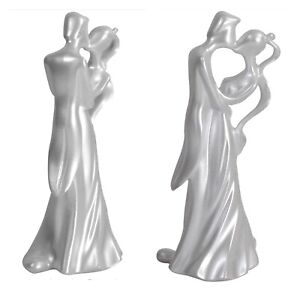 The First Kiss Wilton Wedding Anniversary Cake Topper Shimmer White 202-9417