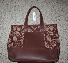 PENDLETON Wool Leather Large Tote Rust Feather Storm TA396 15103