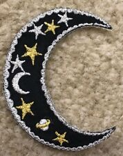 "#2717 3"" Embroidery Iron On Moon&Star ,Pagan Astrology Applique Patch"