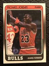 ⬛️🔥Michael Jordan🟥🔥1988-89 Fleer #17 3rd Year Card Bulls RAW