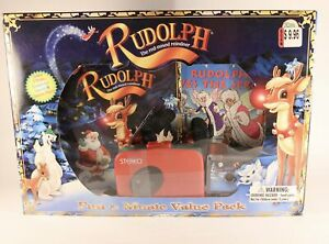 """Sealed """"Rudolph The Red Nose Reindeer"""" Fun & Music Value Pack. Cassette Player"""