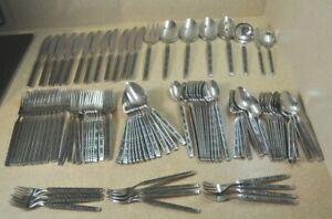 101 ~ Gorham Stainless Steel Flatware *Service for 12 Plus Serving Pcs *HACIENDA