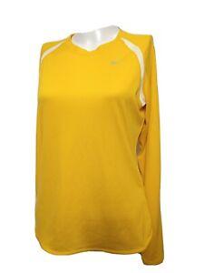 Nike Dri fit Women MEDIUM Athletic long Sleeve T-SHIRT pull over SOLID(#p4