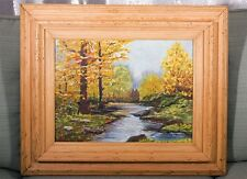 Stunning Oil Painting Signed by Artist with Very Thick & Heavy Wood Frame