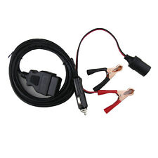OBD2 Emergency Supply Connector Memory Saver W/Extended Cable Battery Clamp Clip