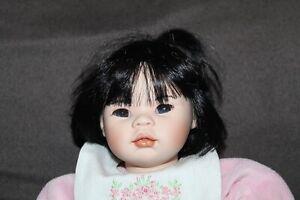Vtg PAULINE BJONNESS JACOBSEN Porcelain Doll ASIAN Pink Pj's