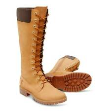 Timberland Womens/kids Nubuck Leather 14 inch Knee High Boots Wheat sz 6.5 NWB