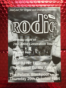 the Prodigy - A5 - the jilted generation tour flyer - Blackpool 1994