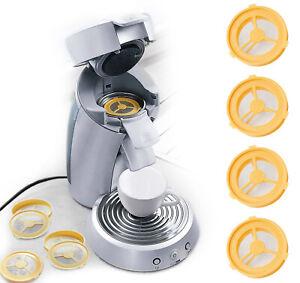 UPP Kaffee Pads befüllbar 4er SET Kunststoff Kaffeepads Pulver wiederverwendbar