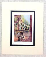 1906 Antico Stampa Versailles Palazzo Giardini Boschetto Di The Colonnade Louis