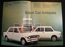 Original Vintage Fiat 128, 2 & 4-Door Sedan/Coupe, 3-Door Station Wagon Brochure