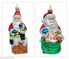 Weihnachtsmann Christbaumschmuck aus Glas