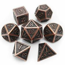 Haxtec Antique Copper Metal DND Dice Set 7 Die D&D Dice for Dungeons and Drag...