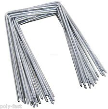 150 STEEL METAL GROUND PEGS PINS STAPLES FOR WEED CONTROL FABRIC MEMBRANE COVER