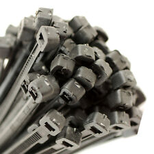 300 BLACK CABLE TIES, 2.5mm x 100mm PLUS A FREE PACK OF 2.5 x 100 WHITE TIES