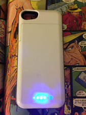 Powerbank case 2200mah case for iPhone 5 5s recharge phone  white-grey