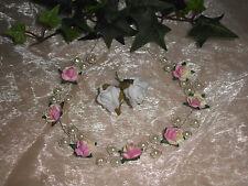 Kopfschmuck für Hochzeit/Kommunion/Blumenmädchen rosa/creme