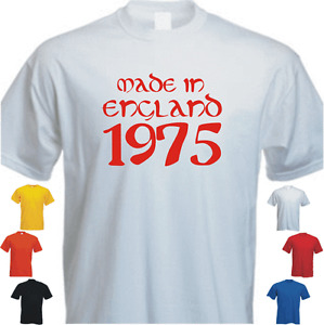 Made in England Your Date Personalise New Tshirt