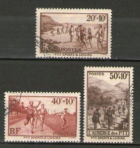 TRES BEAUX TIMBRES N° 345-347 OBLITERES - PTT SPORTS ET LOISIRS