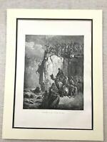 Antico Religioso Stampa Slaughter Di The Prophets Baal Ebraico Bibbia 1870