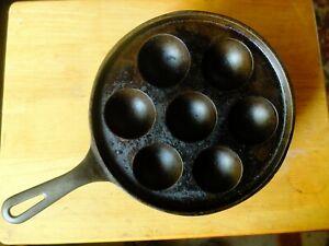 VINTAGE 1930's Griswold Cast Iron Aebleskiver Danish Pancake Pan USA No.32 962