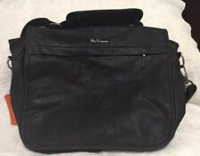 BEN SHERMAN BLACK TARGET / RAF FLIGHT/MESSENGER BAG BRIT MOD NEW W/ TAGS MH00248