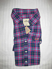 HOLLISTER BY ABERCROMBIE & FITCH DAMEN BLUSE FLANEL LONGARM GR XS S M