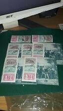 Lote de8 sellos usados 5 hb y 3 sellos  ver imagen,2 CENTENARIO