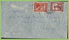 Mozambique 1945 1e & 2e on airmail cover to Lisbon