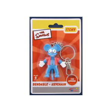 The Simpsons Itchy Bendable Keychain Key Chain New