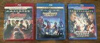 Marvel 3D Blu-Ray Lot Captain America Civil War Guardians of the Galaxy Avengers