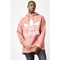 Adidas Oversized Trefoil Raw Pink Men's Hoodie Size Medium
