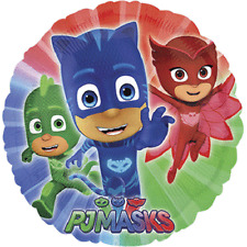 "PJ Masks Birthday Party 17"" Foil Balloon, sold deflated"