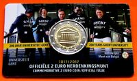 BELGIEN 2017 - 2 Euro - UNIVERSITÄT GENT -  BU- Coincard -> NEU + EXTREM RAR!!