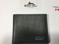 Brand New Genuine Cowhide Leather Bi-Fold Wallet for Men's-Black