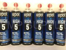 UPOL High 5 High Build Primer Aerosol x2 Boxes GREY x1 Dark Grey x1 Black (24)