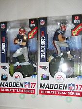 MCFARLANE EA SPORTS MADDEN NFL 17 TOM BRADY & ROB GRONKOWSKI EXCLUSIVE LOT