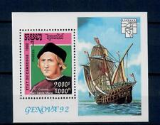(W1072) CAMBODIA, 1992, SHIPS, BL 194, MNH/UM, SEE SCAN