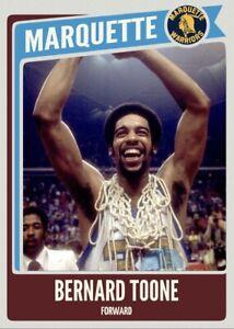 Custom Card Bernard Toone Marquette Warriors NCAA Legends