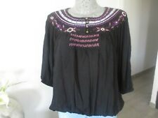 blouse ORIGINAL tunique CARLING ample taille XL 44 haut bouffant woman top femme