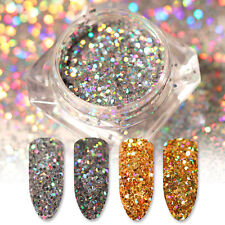 2 Boxes Holo Glitter Flakes Gold Hexagon Nail Sequins Paillette BORN PRETTY