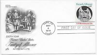 US Scott #1753, First Day Cover 5/4/78 York Single French Alliance
