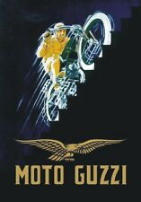 "TARGA VINTAGE ""MOTO GUZZI"" PUBBLICITA, ADVERTISEMENT, POSTER, MOTO, BIKE, PLATE"