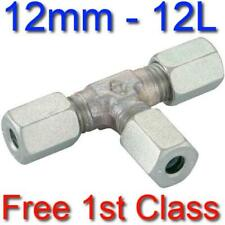 12L EQUAL TEE HYDRAULIC COMPRESSION FITTING/COUPLING TUBE PIPE JOINER 12mm